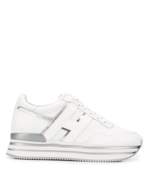 Zapatillas con plataforma Hogan de color White