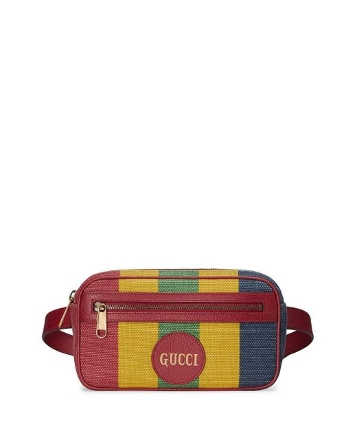 Поясная Сумка В Полоску Baiadera Gucci для него, цвет: Multicolor