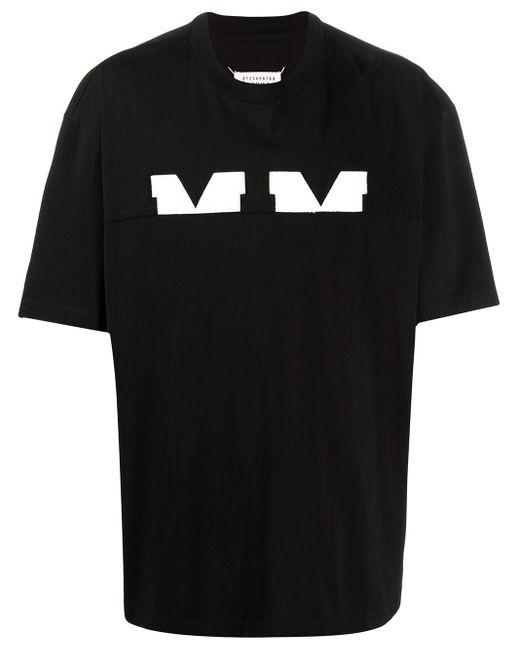 Maison Margiela Black M-logo Short-sleeved T-shirt for men