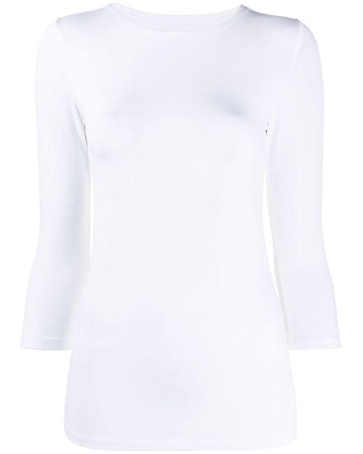 Majestic Filatures クロップドスリーブ Tシャツ White