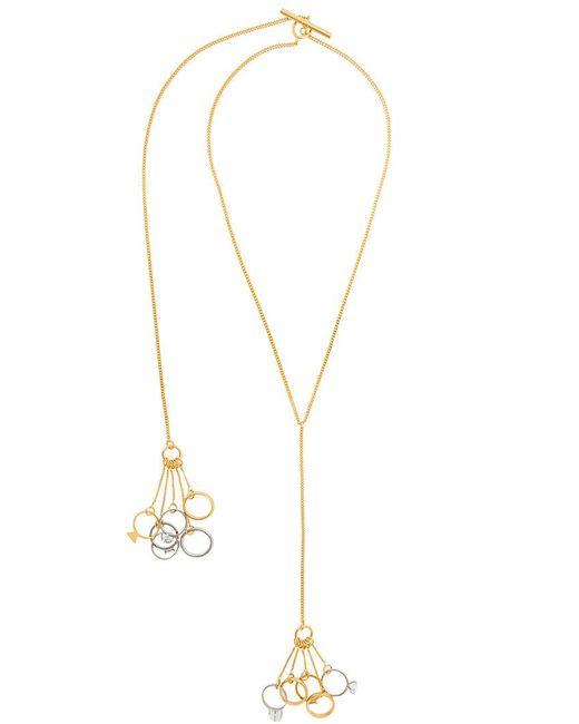 Jil Sander - Metallic Multi Ring Necklace - Lyst
