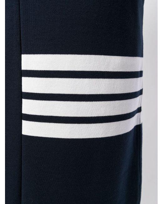 Юбка На Завязке С 4 Полосками Thom Browne, цвет: Blue