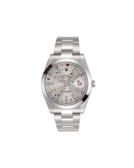 Наручные Часы Oyster Perpetual Datejust Pre-owned 34 Мм Rolex для него, цвет: Metallic