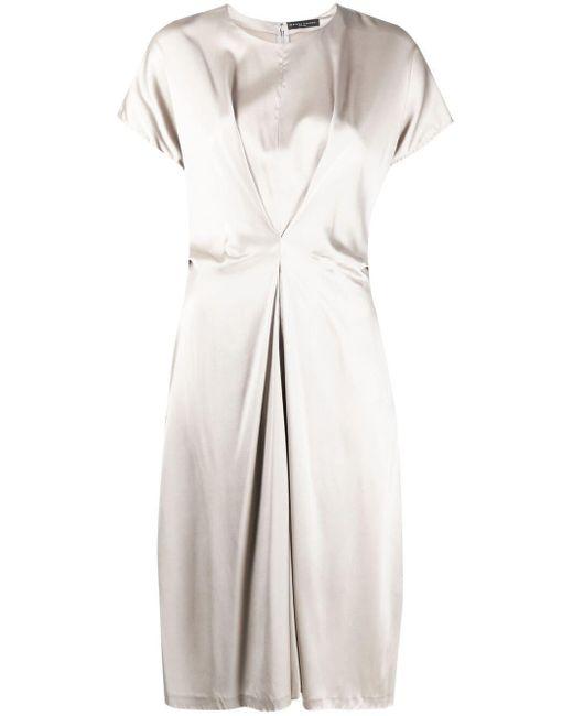 Fabiana Filippi シャーリング ドレス Gray