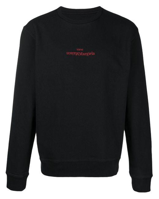 メンズ Maison Margiela ロゴ スウェットシャツ Black