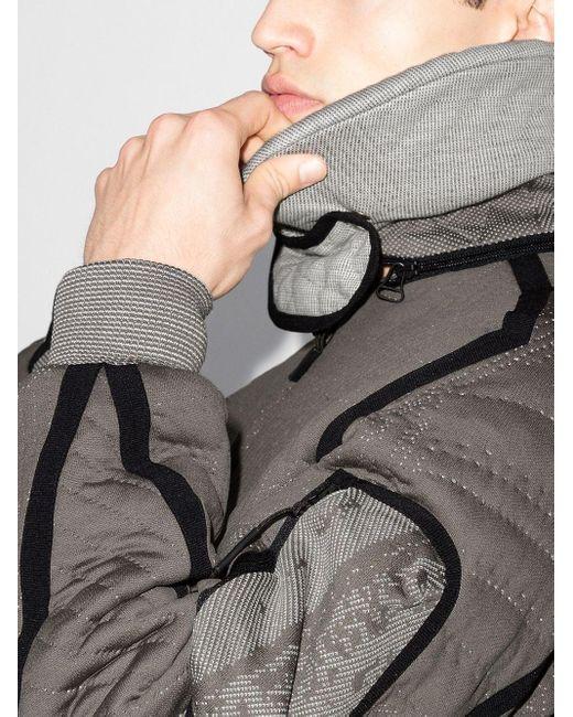 メンズ Byborre キルティング ボンバージャケット Gray