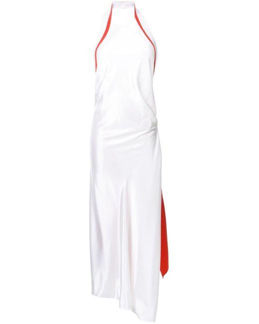 Mugler レザーパネル ドレス White