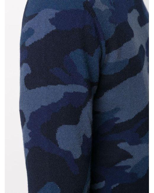 メンズ Valentino カモフラージュ プルオーバー Blue