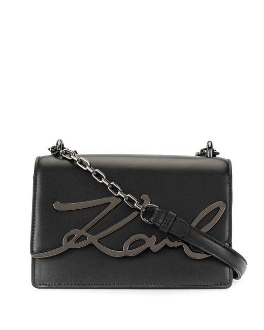 Karl Lagerfeld K/signature ショルダーバッグ Black