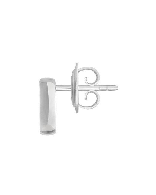 Gucci Metallic Silver Interlocking G Earrings