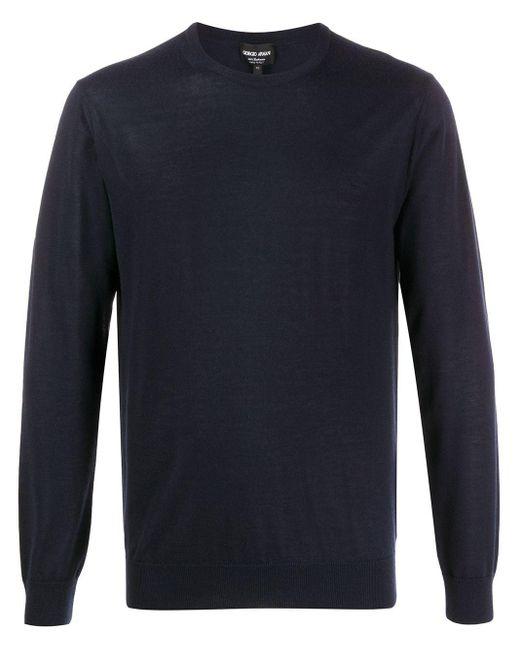メンズ Giorgio Armani カシミア セーター Blue