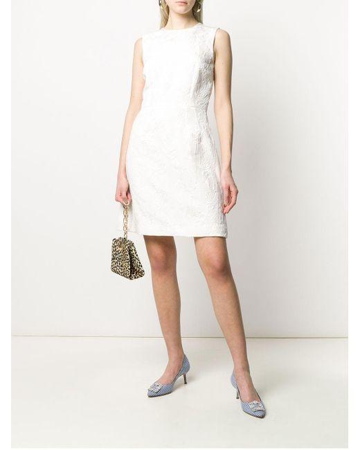 Парчовое Платье Без Рукавов С Цветочным Узором Dolce & Gabbana, цвет: White