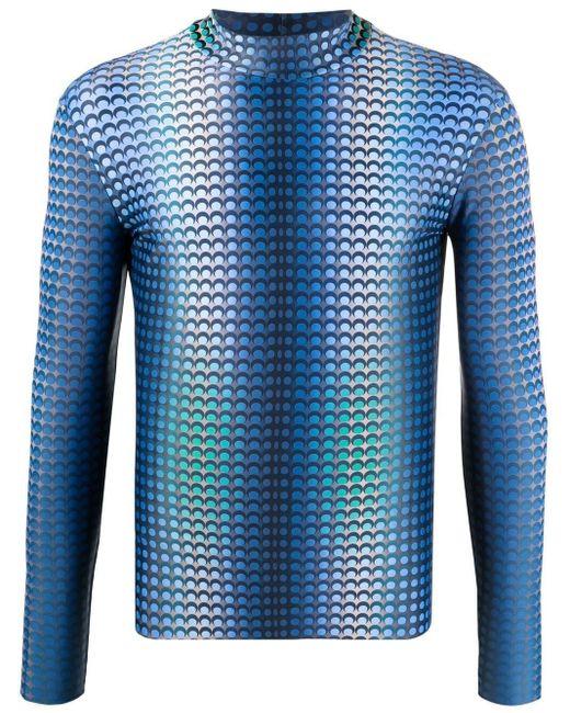 メンズ MARINE SERRE ロゴパターン トップ Blue