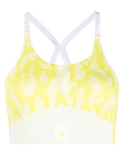 Adidas By Stella McCartney Yellow Truepurpose Seamless Sports Bra