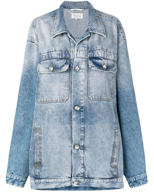 Джинсовая Куртка В Стиле Оверсайз Maison Margiela, цвет: Blue