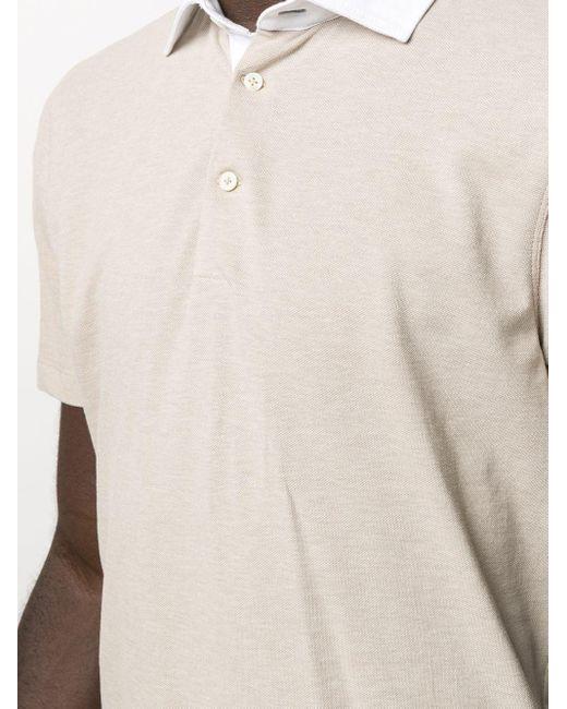 Рубашка Поло С Контрастным Воротником Brunello Cucinelli для него, цвет: Multicolor