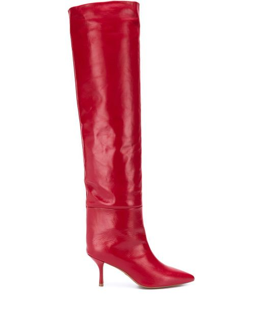 Stuart Weitzman Millie Over-the-knee Boots Red