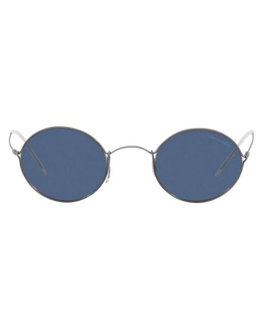 Giorgio Armani Gray Round-frame Sunglasses for men