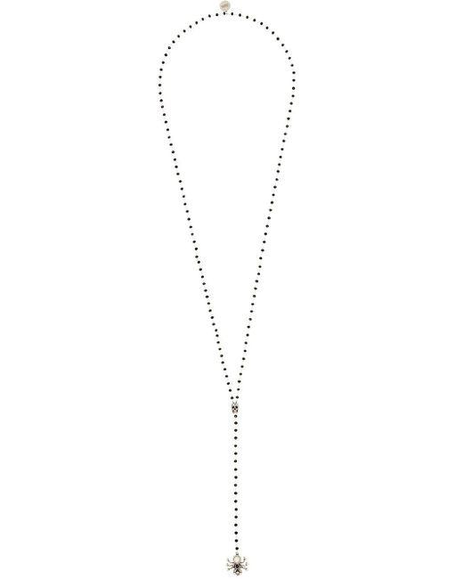 Alexander McQueen Metallic Long Spider Necklace