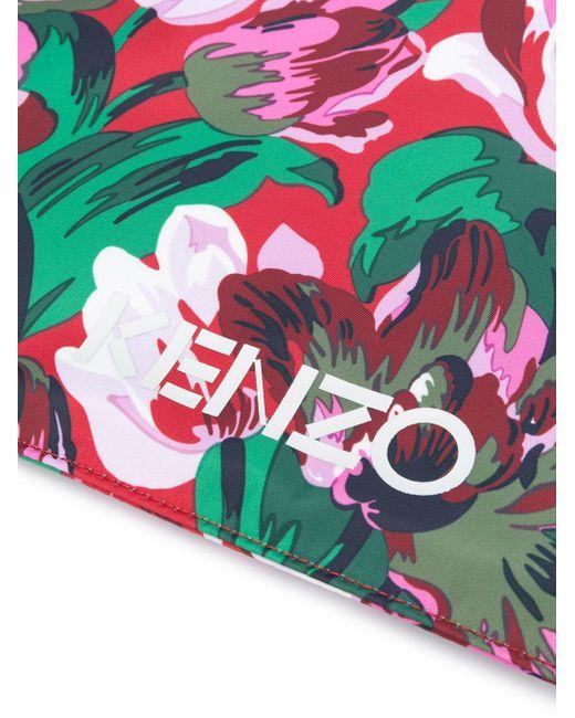 KENZO フローラル クラッチバッグ Pink