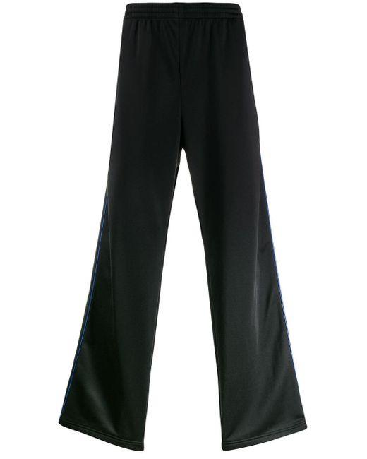 メンズ Balenciaga ストライプ トラックパンツ Black
