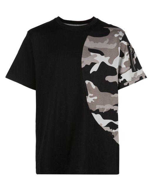 メンズ Mostly Heard Rarely Seen カモフラージュ Tシャツ Black