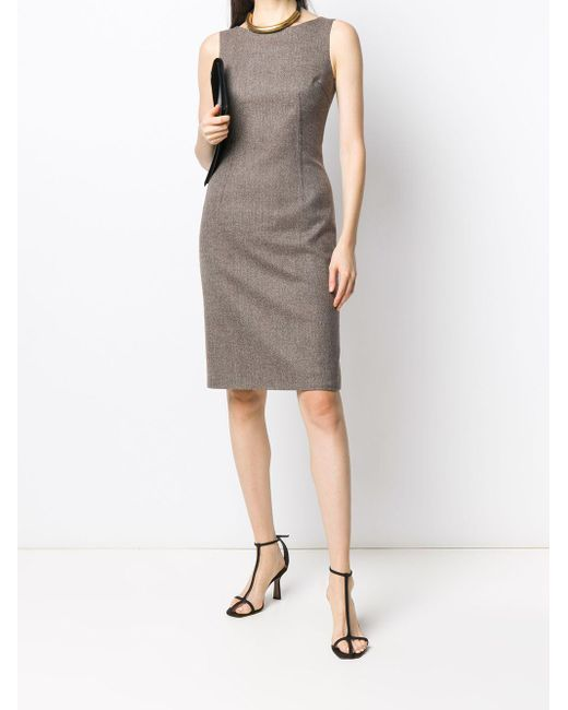 Dolce & Gabbana ノースリーブ シフトドレス Gray