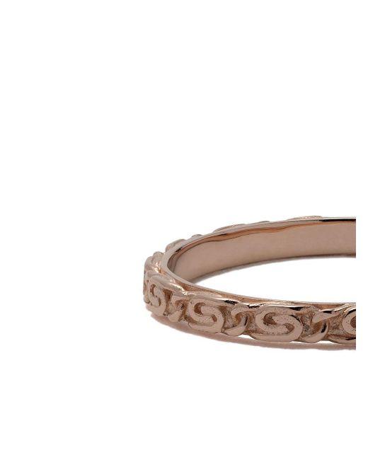 Кольцо Snail Diamond Chain Из Розового Золота Wouters & Hendrix, цвет: Metallic