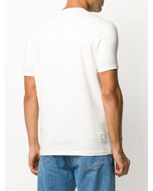 メンズ Emporio Armani ロゴ Tシャツ White