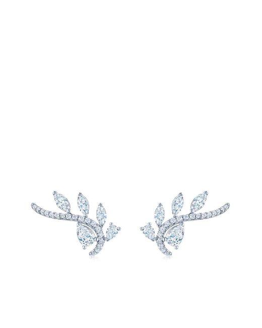 Boucles d'oreilles Vine en or blanc 18ct ornées de diamants Kwiat en coloris Metallic