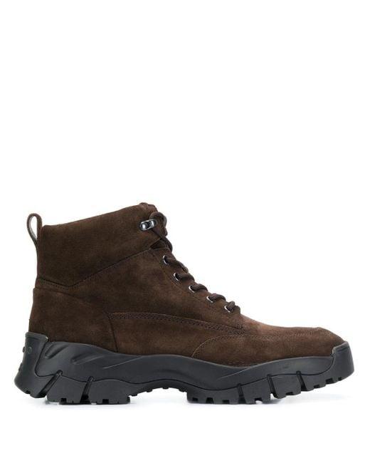 Ботинки На Шнуровке Tod's для него, цвет: Brown