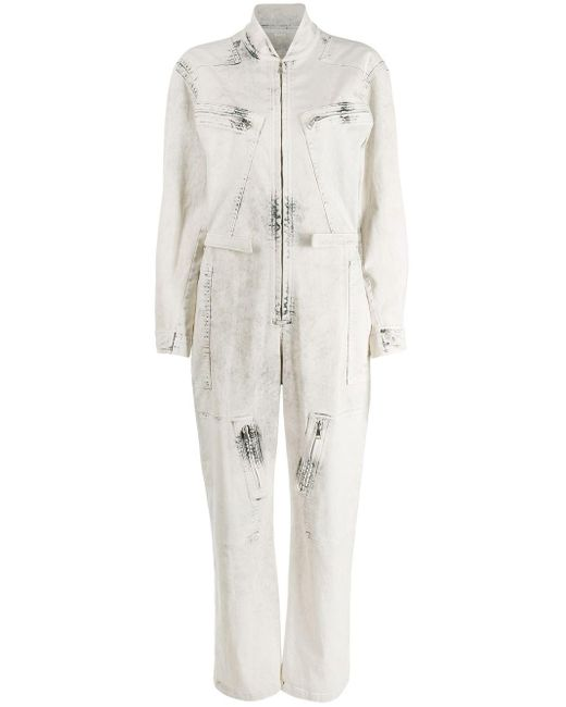 Stella McCartney デニム ジャンプスーツ Gray