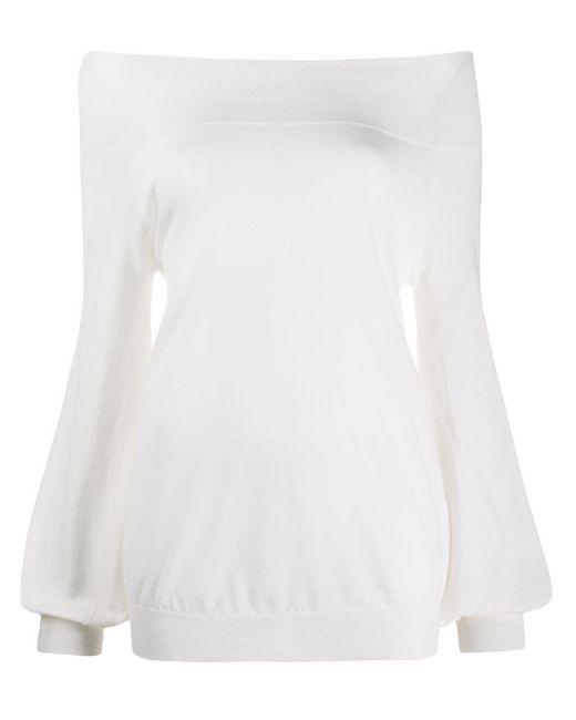Pull à épaules dénudées P.A.R.O.S.H. en coloris White