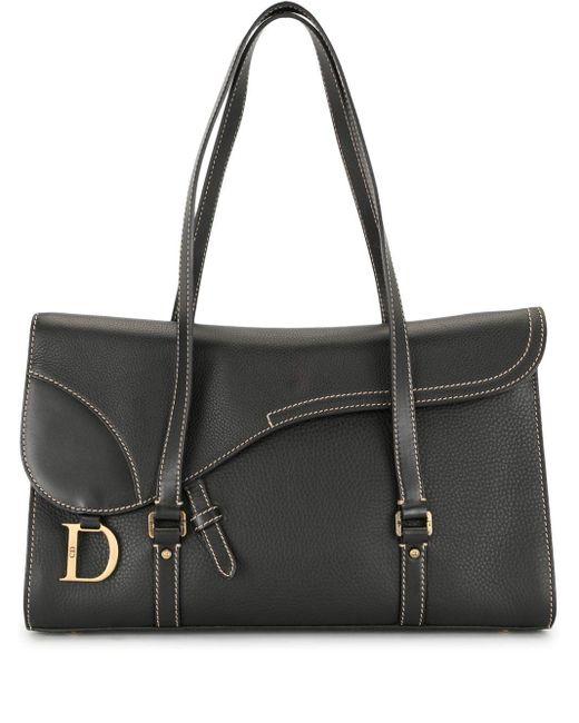 Dior プレオウンド サドルバッグ Black