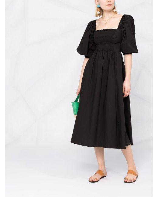 P.A.R.O.S.H. スクエアネック ドレス Black