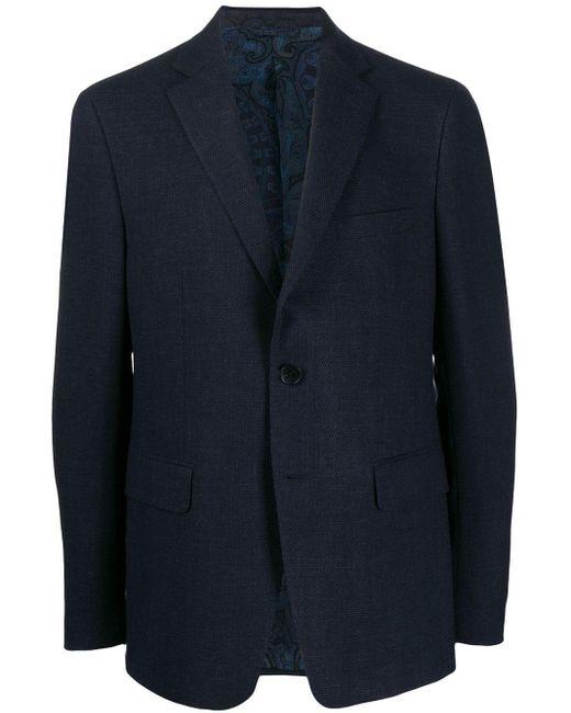 メンズ Etro シングルジャケット Blue
