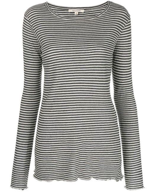 Nili Lotan Striped Print Top Gray