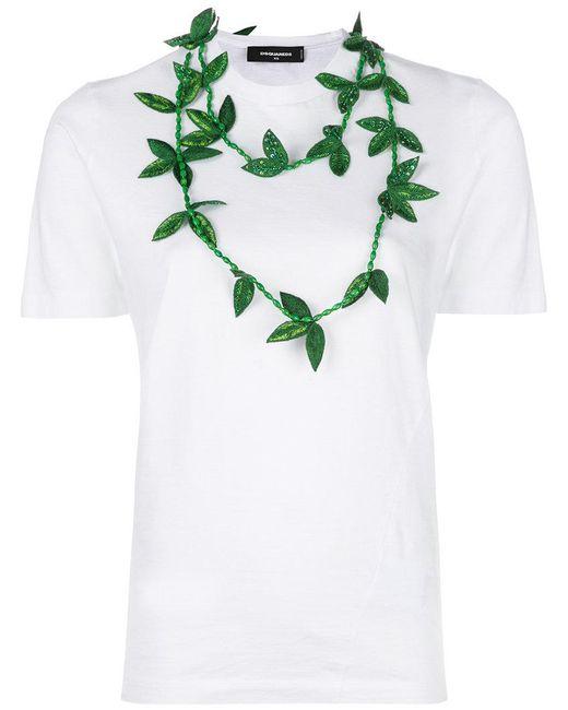 DSquared² - White Necklace Applique T-shirt - Lyst