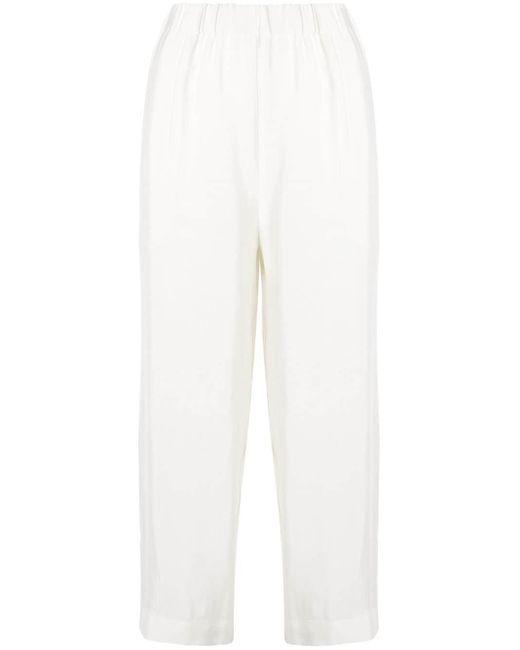 Erika Cavallini Semi Couture クロップド ワイドパンツ White