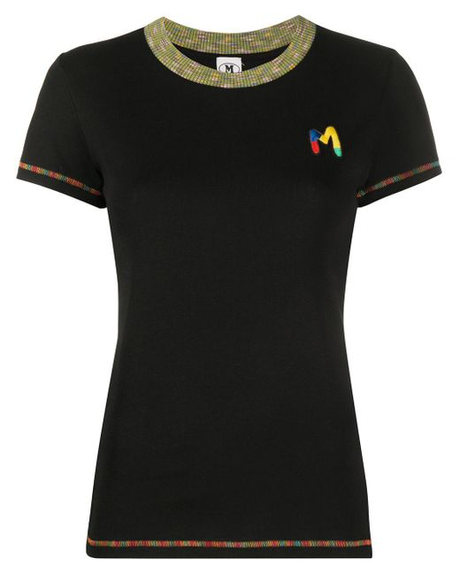 M Missoni M エンブロイダリー Tシャツ Black