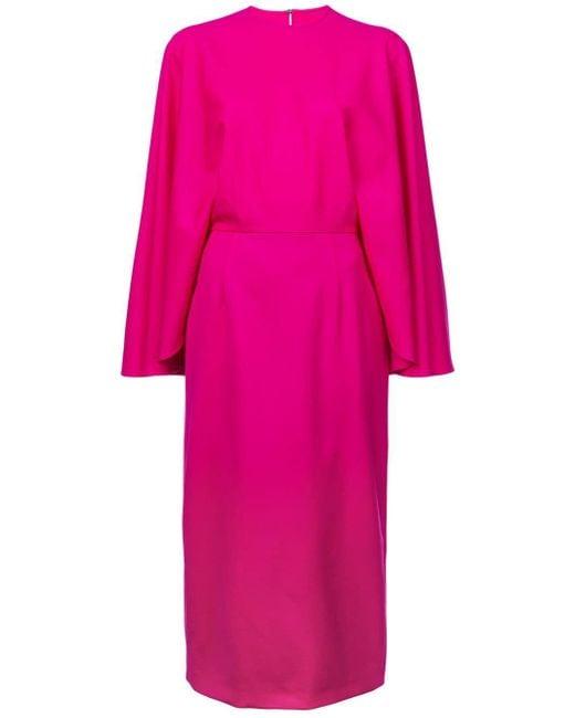 Sara Battaglia ケープスタイル ドレス Pink