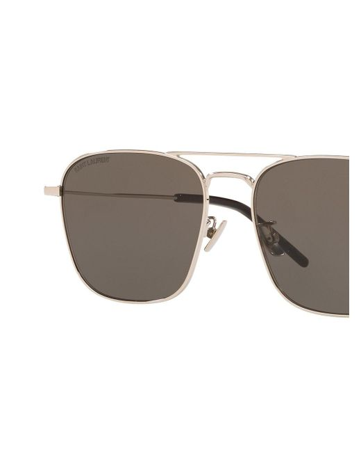 Gafas de sol con doble puente Saint Laurent de color Metallic
