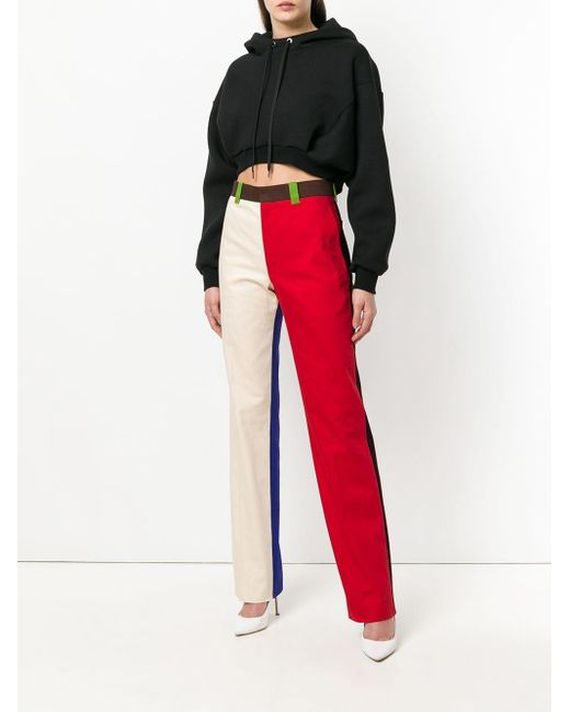 CALVIN KLEIN 205W39NYC カラーブロック パンツ Red
