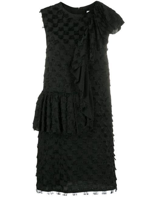 MSGM ワンショルダー ドレス Black