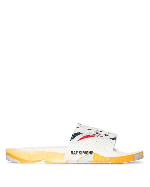 メンズ Adidas X Raf Simons Adilette サンダル White