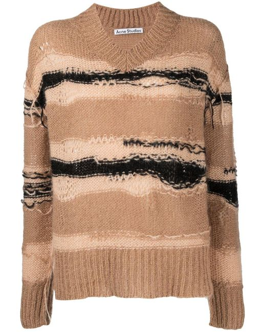 Acne ストライプ セーター Natural
