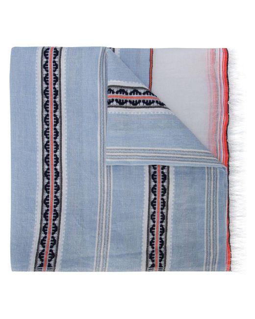 Lemlem Ribani ストライプ スカーフ Blue
