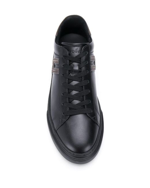 Кроссовки На Шнуровке Hogan для него, цвет: Black