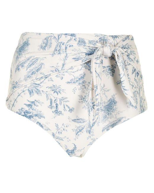 Slip bikini a vita alta Clementine di Sir. The Label in White