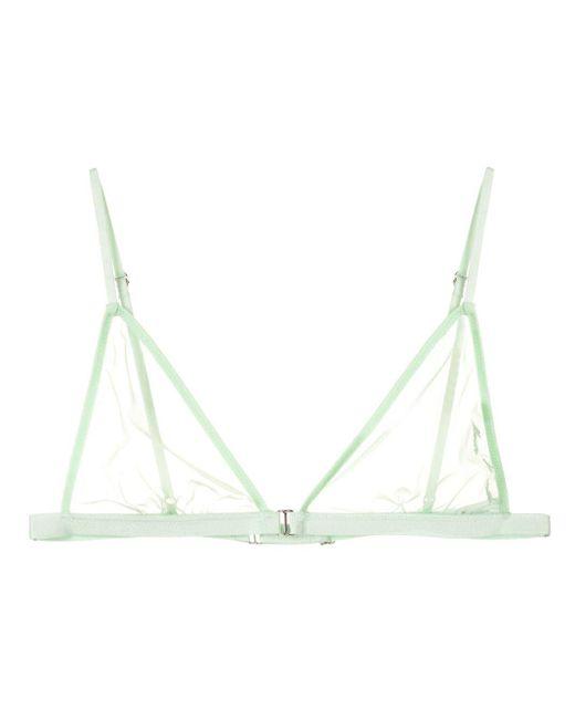 Прозрачный Бюстгальтер С Треугольными Чашками Fleur du Mal, цвет: Green